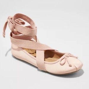 Target Mossimo Maci lace up wrap ballet flats!